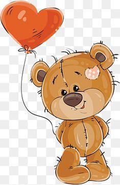 Teddy bear Balloon , Bear with a balloon of love, bear holding heart shaped balloon illustration transparent background PNG clipart Polar Bear Cartoon, Owl Cartoon, Cartoon Drawings, Cute Cartoon, Tatty Teddy, Baby Elephant Drawing, Happy Birthday Illustration, Crown Illustration, Teddy Bear Images