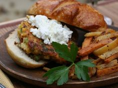 Corn Burgers with Sun-Dried Tomatoes and Goat Cheese
