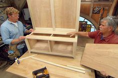 with This Old House general contractor Tom Silva and host Kevin O'Connor | thisoldhouse.com | from How to Build a Storage Bench