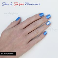 how to: patriotic stars and stripes manicure // perfect for July 4th!