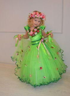 "Детские карнавальные костюмы ""Penelope"" Flowery Dresses, 15 Dresses, Girls Dresses, Flower Girl Dresses, Fancy Costumes, Halloween Fancy Dress, Halloween Costumes For Kids, Cute Outfits For Kids, Girly Outfits"
