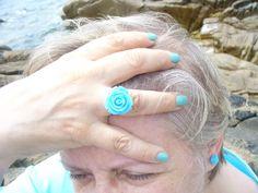 """Conjunto de anel brincos e vernizes by """"FLOWER""""..."""
