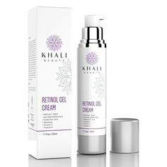 Khali Beauty Retinol Moisturizer Gel Cream for Face and Eye AreaAntiWrinkle Facial Night CreamAll Natural Peptides Hyaluronic AcidSea Kelp BiofermentMatrixyl 3000Vitamin CE 17oz * You can find out more details at the link of the image.-It is an affiliate link to Amazon. #OrganicSkinCare