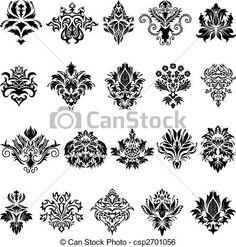 damasco, emblema, set - csp2701056