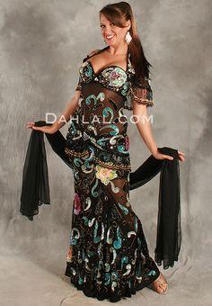 Dahlal Internationale Store - SHEER DELIGHT by Pharaonics of Egypt, Egyptian Belly Dance Costume, Available for Custom Order, $595.00 (https://www.dahlal.com/sheer-delight-by-pharaonics-of-egypt-egyptian-belly-dance-costume-available-for-custom-order/)