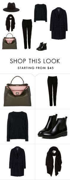 """My look (2) black"" by anashvets on Polyvore featuring мода, Fendi, Dolce&Gabbana, Frame Denim, WithChic, MSGM, Cash Ca и rag & bone"