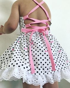Hey, I found this really awesome Etsy listing at https://www.etsy.com/listing/522247763/toddler-girls-white-black-polkdot-pink