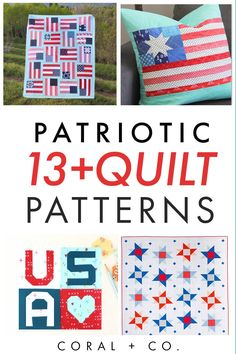 Celebrate the 4th of July with this list of Patriotic Quilt Patterns. Watch the fireworks sitting on a flag quilt or the parade on your favorite red, white, and blue star quilt. Get the list now!