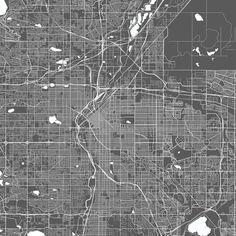 Denver USA Modern Map Art Print Art Print