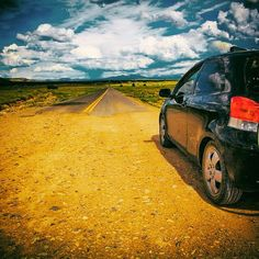 The end of the road..or is it the beginning?  #car #landscape #toyota #yaris #endoftheroad #movingintofreedom #lilahum #travel #travelamerica #travelforlife #enjoythejourney #discoveramerica #drive #nomadnotes #instatravel #gypsylife #journey #lovetour #middleofnowhere #northernarizona #photography #rewild #roadlife #roadtrip #travelawesome #earthpix #homeiswhereyouparkit #instadaily #liveadventerously