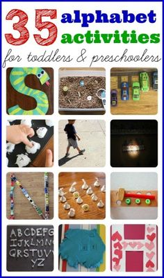 35+ Alphabet Activities for Toddlers & Preschoolers - Pinned by @PediaStaff – Please Visit ht.ly/63sNt for all our pediatric therapy pins