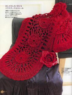 Pattern: Hairpin Crochet Scarf with Flower Motif
