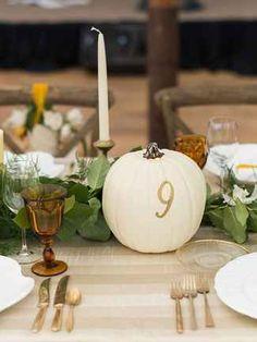 13 Elegant Pumpkin Décor Ideas to Spice Up Your Fall Wedding | TheKnot.com