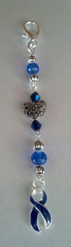 Colon Cancer Awareness keychain awareness key by AtYourWittsEnd, $8.50
