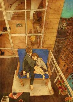 Liebe ist, wenn du in seinen Armen einschläfst.