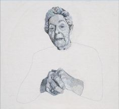 Embroidered portrait of my grandmother for VCE art #VCE #cotton #silk