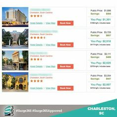 Who doesn't love the South. Take a look at our prices for 4 & 5 star resorts.