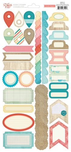 Crate Paper The Pier Border & Label Stickers