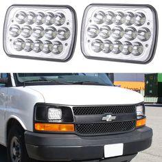 "2P 7x6"" LED Chrome Crystal Sealed Beam Headlights H6014,H6052,H6054 for GMC Ford #TURBO"
