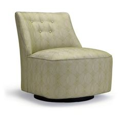 Check out this item at One Kings Lane! Lana Buttoned Swivel Chair, Leaf Green