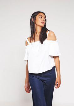 T-shirts Bik Bok SASHA            - Klassieke bloezen - white wit: 24,95 € Bij…