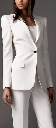 BURBERRY v Love this, but it's something I would never own. I'm much too messy for a white suit.