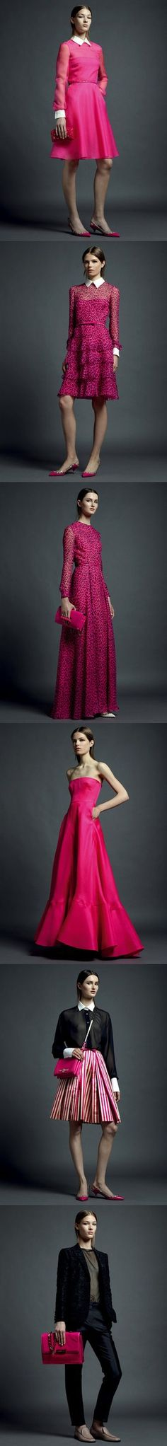 Valentino Resort 2013 - what do you think of the bold color? @Fashionologie #valentino