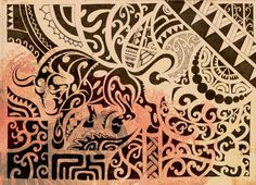 Polynesian art that helped inspire a tattoo I designed for a friend