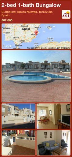 Unspecified for Sale in Torrevieja, Alicante, Spain with 2 bedrooms, 1 bathroom - A Spanish Life Valencia, Torrevieja Spain, Portugal, Bungalows For Sale, Double Bedroom, Alicante, Front Porch, Swimming Pools, Spanish