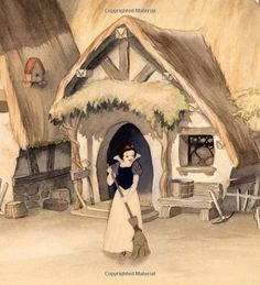 Walt Disney movie animation enchanting fairytale Snow White and the Seven Dwarfs, little dwarf house