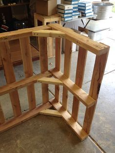 Pallet Bar who's down to help make this Or use as the frame for a half wall