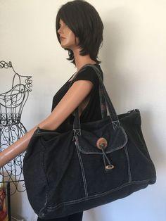 Gitano  Extra  Large Bag Charcoal Designer Fashion Bohemian Hip Canvas #Gitano #Hobo