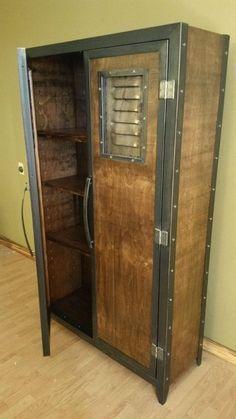 Industrial furniture Locker/wardrobe 46 by industrial by IndustEvo