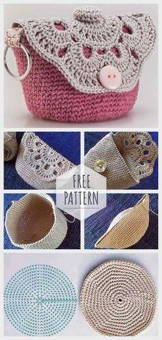 Marvelous Crochet A Shell Stitch Purse Bag Ideas. Wonderful Crochet A Shell Stitch Purse Bag Ideas. Purse Patterns Free, Crochet Purse Patterns, Bag Pattern Free, Crochet Coin Purse, Crochet Purses, Crochet Shell Stitch, Crochet Handbags, Crochet Basics, Crochet Accessories