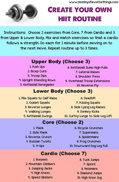 Create your Own HIIT Routine