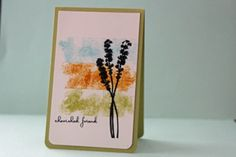 Ink masking or painters tape. Apply to glossy cardstock. Cover with white paper and burnish. Remove white paper and tape, let ink dry. Finish card. Splitcoaststampers - Tutorials