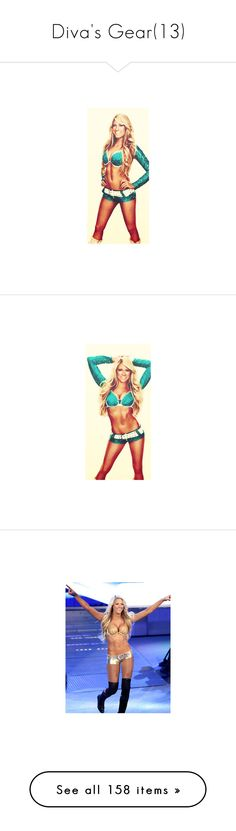 """""""Diva's Gear(13)"""" by jamiehemmings19 ❤ liked on Polyvore featuring home, home decor, kelly kelly, star home decor, wwe, costumes, attire, halloween, lingerie and sexy costumes"""