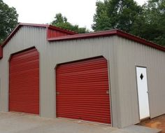 Center Section: x x Right Lean-To: x x Left Lean-To: x x Vertical Roof, Sides, & Gable Ends. x Roll up doors. (Red) x Roll up door.(Red) Walk in door. x Sets of 45 Degree openings Pole Buildings, Steel Buildings, 12x8 Shed, Lean To Roof, Shed Plans 8x10, Firewood Shed, Agricultural Buildings, Roll Up Doors, Metal Garages