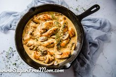 Keto Chicken and Mushroom Casserole is a perfect low carb meal made quickly and easily in one pan! Easy Chicken and Mushroom Casserole Cr. Keto Chicken, Yum Yum Chicken, Roasted Chicken, Chicken Recipes, Frozen Chicken, Creamy Chicken, Turkey Recipes, Baked Chicken, Chicken Mushroom Casserole