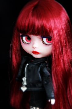 Blythe doll  Sinead  OOAK handmade doll Original door BigEyesBlythe Large Eyes, Big Eyes, Blythe Dolls For Sale, Cheap Dolls, Reflection Photography, Japanese Toys, Gothic Dolls, Valley Of The Dolls, Little Doll