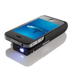 Brookstone Pocket Projector for iPhone 4 - Black