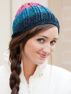 I love the sparkle and the color in this crochet hat.