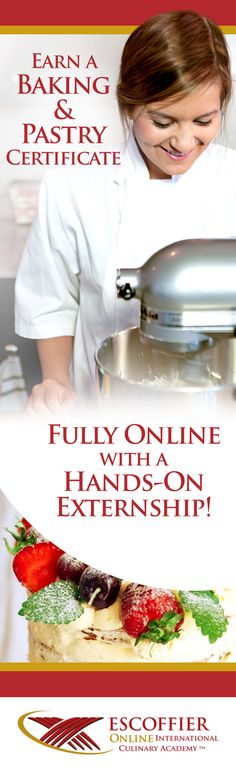 Isn't It Time You Got Started? At Escoffier, we believe in more than giving you the tools you need to be successful as you complete your baking and pastry classes online.