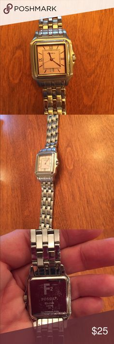 Fossil watch.   Needs battery. Pretty fossil watch with pink face! Fossil Accessories Watches