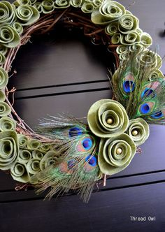 peacock/felt #Christmas Decor