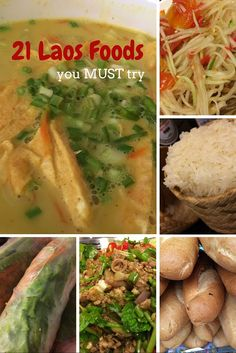Must Try Foods from Laos - 21 Laos Dishes that are divine. Take a look at our What to Eat in Laos guide here. #Laos #Food #WorldFood