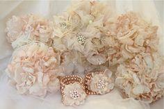 The Polka Dot Closet: Fabric Flower Bracelet Corsages For The Usherettes