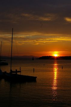 Sunset over Lake Champlain, Vermont