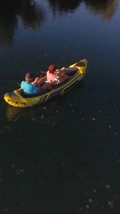 Tandem kayaking involves paddling a long boat with two people Person Sitting, People Sitting, Double Kayak, Recreational Kayak, Kayak Adventures, Sit Back, Rear Seat, Tandem, Nice View