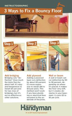 236b06399cde DIY Tutorial  3 Ways to Fix a Bouncy Floor. Diy Furniture Projects